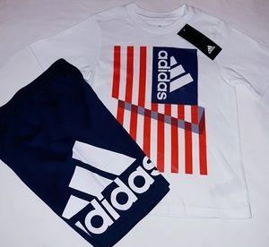 Adidas Boys Toddler 2pc Short Set